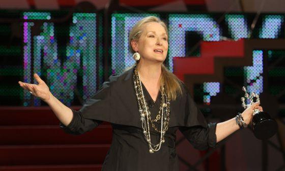 Meryl Streep recoge su premio Donostia, en 2008