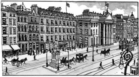 Una de las ilustraciones de su libro 'Dublinés'