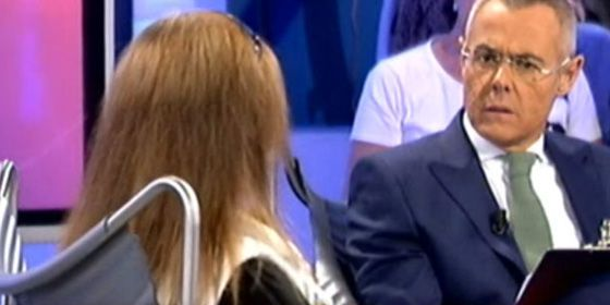 Un momento de la entrevista de Jordi González a la madre de El Cuco
