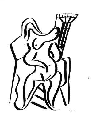 Dibujo de Rafael Alberti que ilustra 'Poeta en Nueva York'.