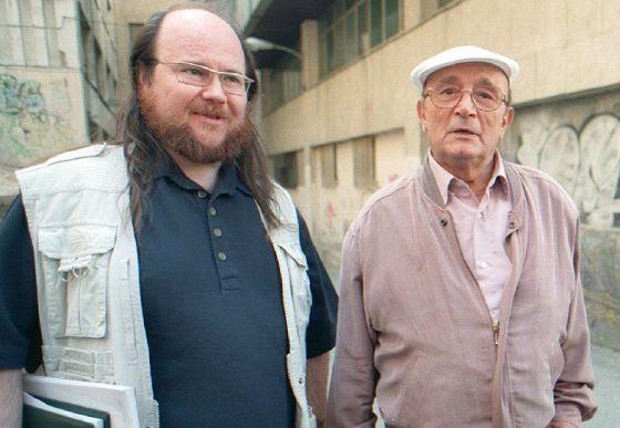 Segura (izquierda) y Leblanc, durante el rodaje de una de las entregas de 'Torrente'.