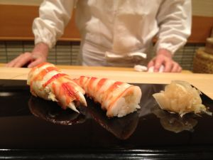 'Kuruma ebi', pieza de gamba del 'sushiman' Jiro.