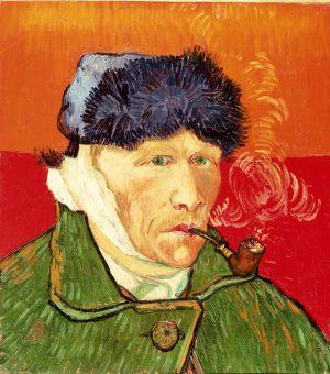Autorretrato con oreja vendada y pipa, de Vincent Van Gogh.
