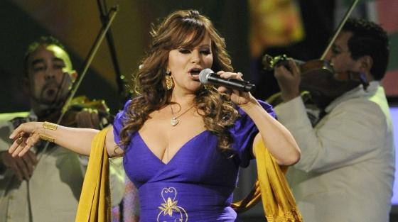Jenni Rivera en una actuación en 2010.