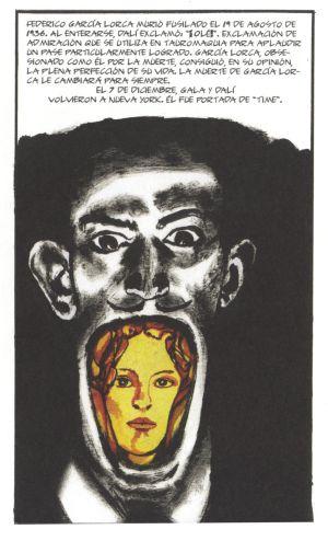 Una ilustración del 'Dalí' dibujado por el francés Baudoin.