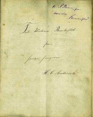 La primera página del cuento de Hans Christian Andersen.