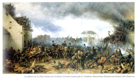 El escenario bélico de Waterloo: La defensa de La Haye-Sainte por la legión alemana del Rey, de A. Northern.