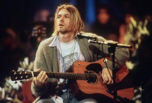 Kurt Cobain, líder de Nirvana, en la grabación del 'unpplugged' de MTV en 1993.