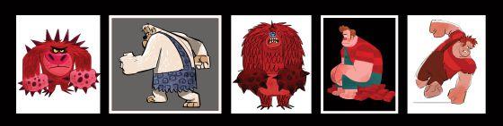 Modelos de inspiracíón para el protagonista de 'Rompe Ralph', un villano de videojuego que intenta convertirse en héroe.