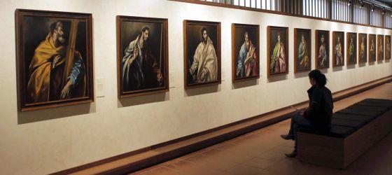 La serie de apóstoles del Greco en su Casa-Museo de Toledo.