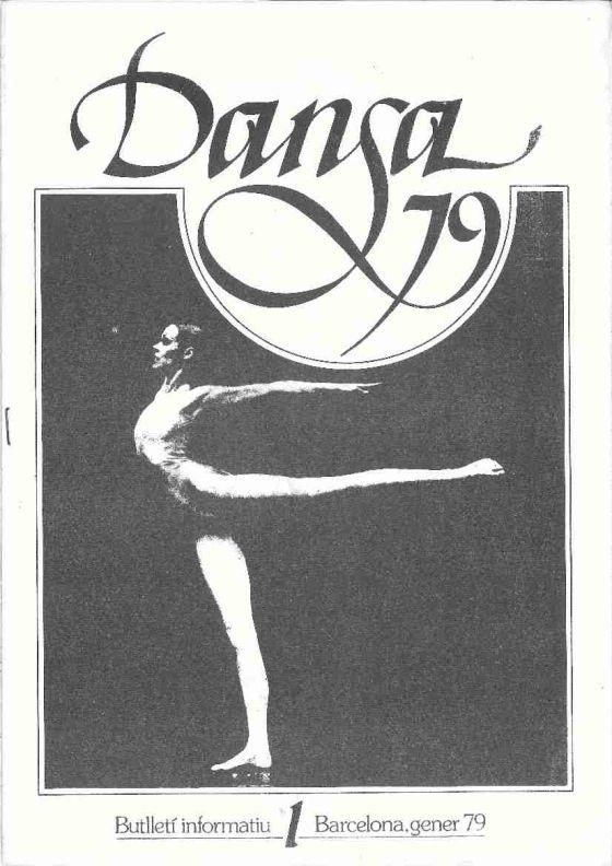 Portada del primer número de la revista 'Danza 79'.