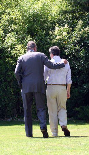 La foto que captó Adolfo Suaréz Illana el día en que el Rey entregó a su padre el Toisón de Oro en 2008.