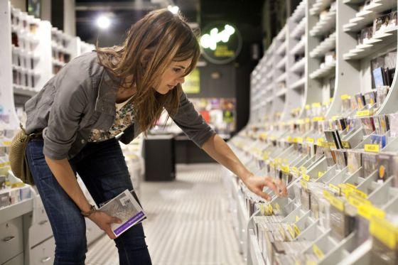 La tienda de discos Castellá, en Barcelona.