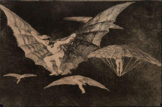 'Modo de volar', disparate número 13 de Goya.