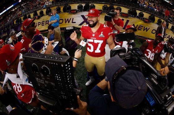 Michael Wihoite, jugador de los 49ers de San Francisco.