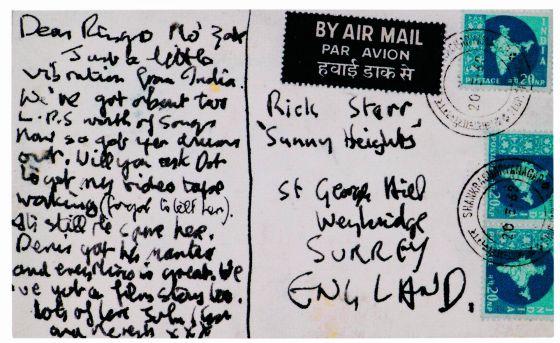 Postal remitida a Ringo Starr en 1968