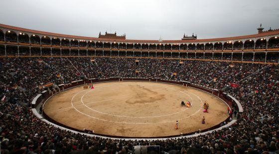Un festejo en la plaza de toros de Las Ventas