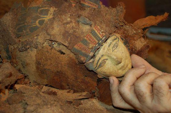 Hallazgo en la necrópolis de Qubbet el-Hawa, cerca de Asuán (Egipto)