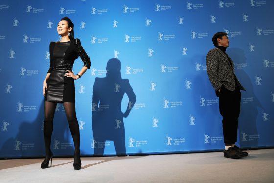 Zhang Ziyi (izquierda) y Tony Leung, en la presentación ayer de The grandmasters en la Berlinale.