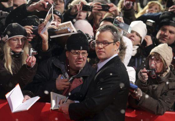 Matt Damon, ayer en Berlín.