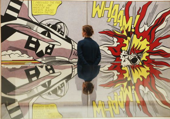 'Whaam!', pieza de Roy Lichtenstein de 1963, expuesta en la Tate Modern londinense.