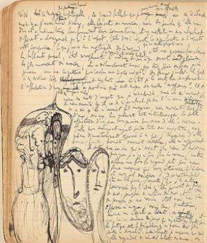 Cahier 12, de Marcel Proust, de 1909.