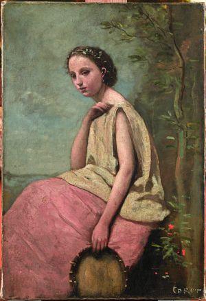 'Gitana con pandereta' (c. 1865) de Corot.