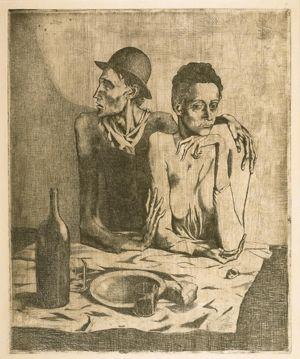 'La comida frugal' (1904), aguafuerte sobre papel japonés.