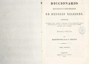 'Diccionario histórico y biográfico de mugeres célebres', de Antonia Gutiérrez Bueno.