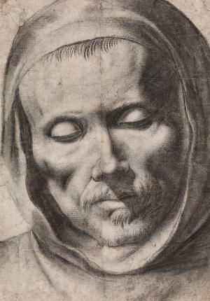 'Cabeza de monje', atribuida a Francisco de Zurbarán.