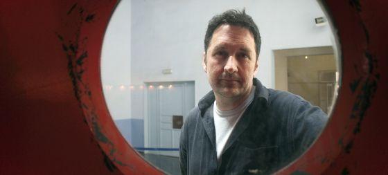 El autor de 'Astiberri', el francés Guy Delisle, durante el Salón Internacional del Cómic de Barcelona.