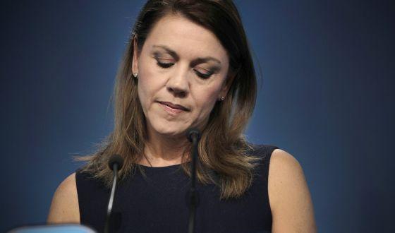 La secretaria general del PP y presidenta de Castilla-La Mancha, María Dolores de Cospedal.