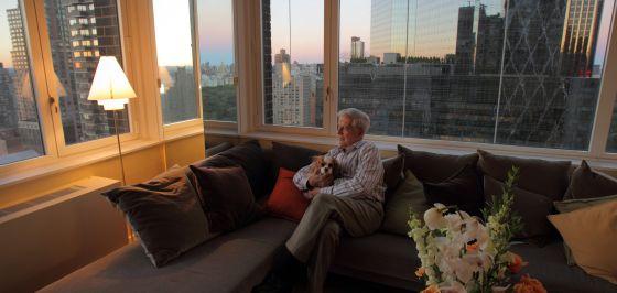 El escritor peruano en Nueva York.