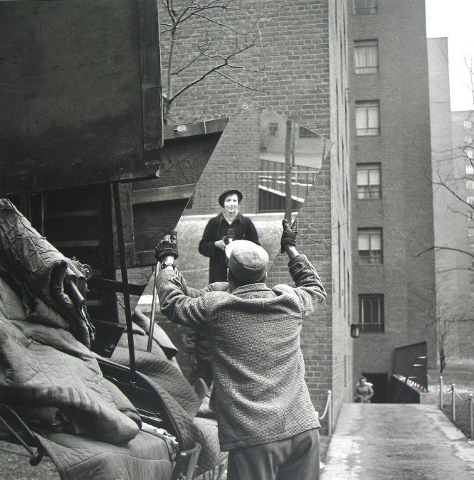 Autorretrato de Vivian Maier fechado en febrero de 1955.
