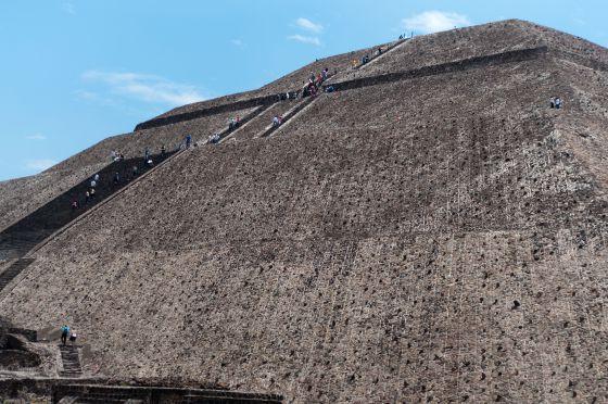 Imagen de la pirámide de Teotihuacán.