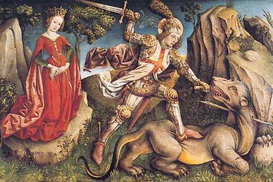 El combate de Sant Jordi, de Jost Haller (1445-1450).