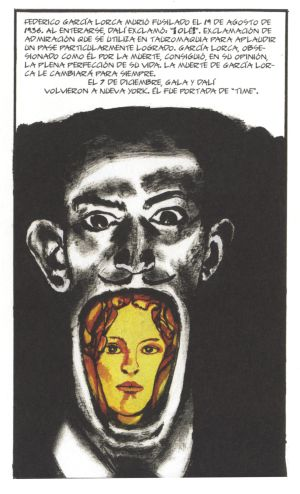 Página del cómic 'Dalí', de Baudoin.