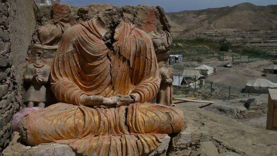 Imágenes budistas en Mes Aynak.