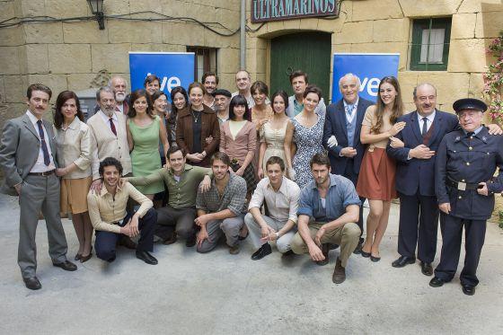 El reparto de la serie 'Gran Reserva'.
