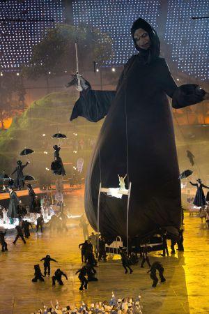 Marioneta de Lord Voldemort (Harry Potter) durante la ceremonia inaugural de los JJOO de Londres 2012.