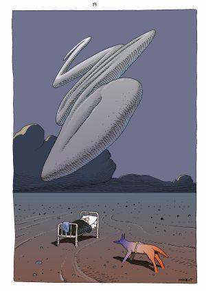 'Autorretrato en la cama' de Moebius incluido en el volumen 3 de 'Inside Moebius' (Norma Editorial).
