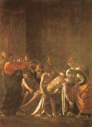 'La resurrección de Lázaro' de Caravaggio.