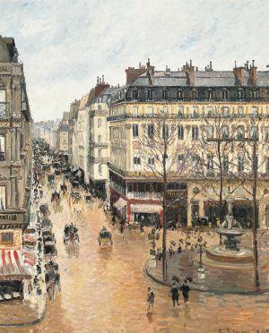 'Rue Saint‐Honoré por la tarde. Efecto de lluvia' (1897), óleo de 81 x 65 centímetros propiedad del Museo Thyssen‐Bornemisza.
