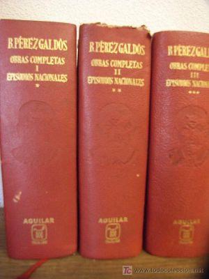 Ejemplares de los Episodios Nacionales de Benito Pérez Galdós