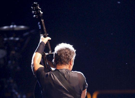 El músico estadounidense Bruce Springsteen, durante un concierto Benidorm,en 2009.