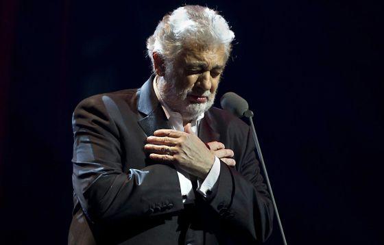 El tenor español Plácido Domingo durante un concierto en el Ziggodome de Ámsterdam (Holanda) esta misma semana.