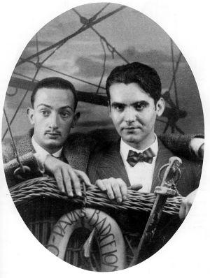Salvador Dalí (izquierda) y Federico García Lorca.