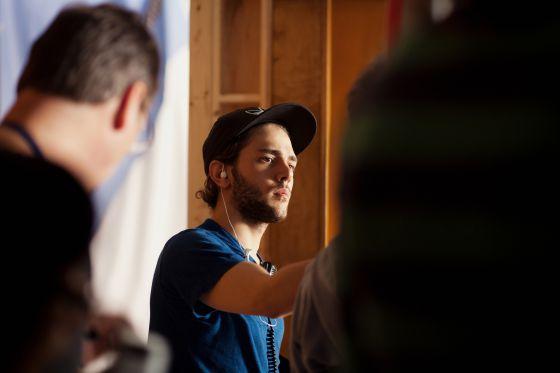 Xavier Dolan en un momento del rodaje de su nueva película.