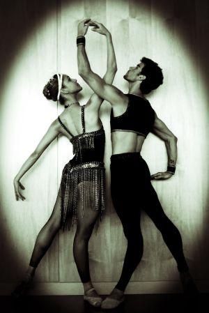 Los bailarines Marlene Fuerte y Josué Ullate.