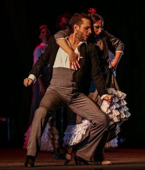 Manuel Liñán y La Moneta en pleno baile del espectáculo 'Duende'.